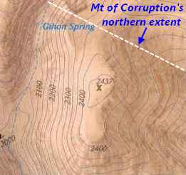 [Relief/topo map of the Mount of Corruption]