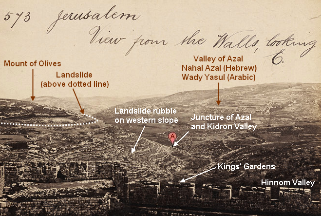 Azal Valley from Jerusalem
